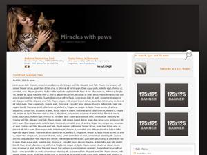 Wordpress тема оформления miracles-with-paws