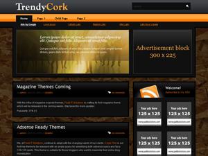Wordpress тема оформления trendy-cork-10