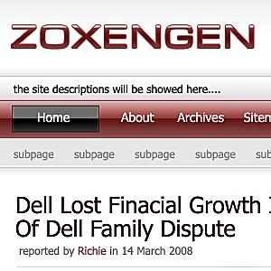 Wordpress тема оформления zoxengen