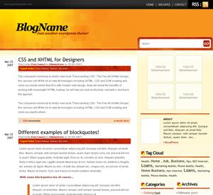 Wordpress тема оформления fluid-orange-10